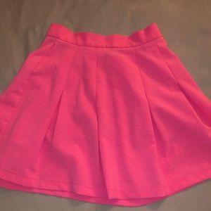 Neon Pink Skirt